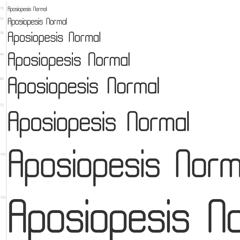 Free Fonts: Aposiopesis Normal | Various | Onyx Font Foundry
