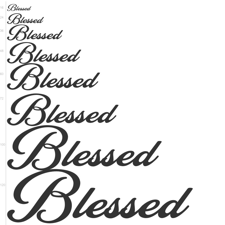 Free Fonts: Blessed