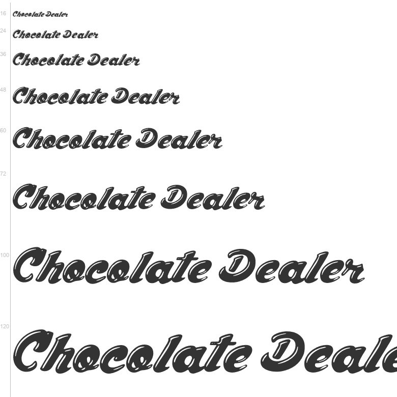 Free Fonts: Chocolate Dealer