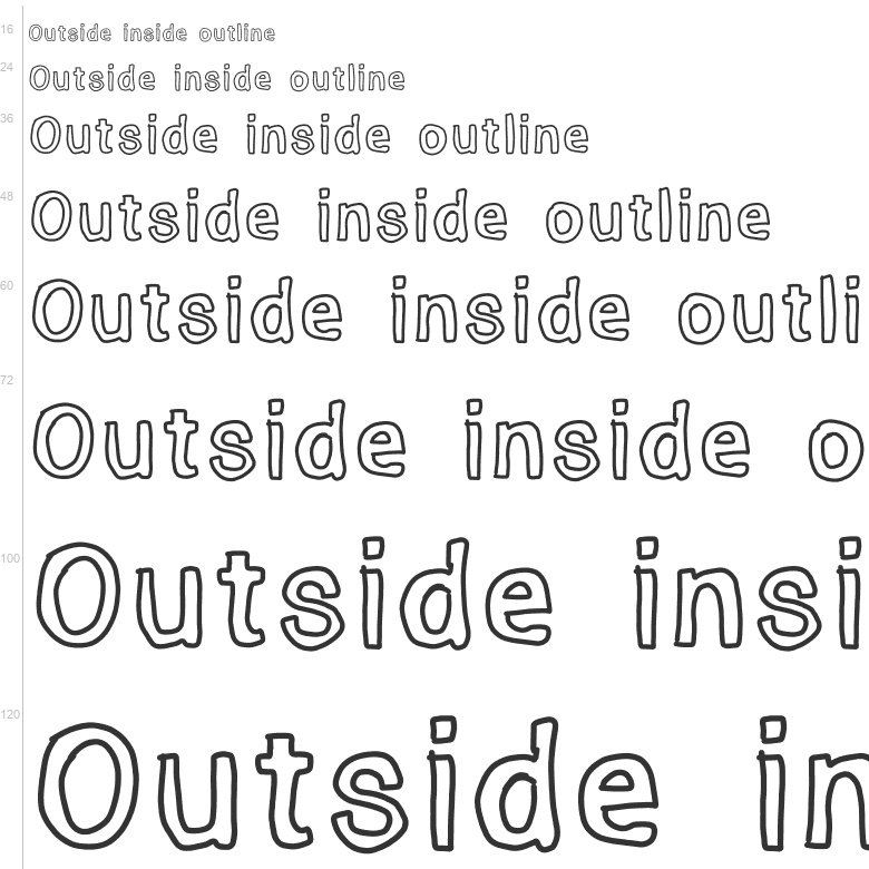 Free Fonts: Outside inside outline | Cartoon | kizzles the cat