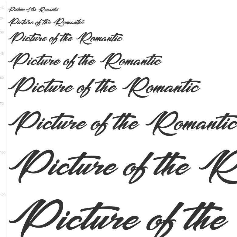 Free fonts picture of the romantic calligraphy octotype