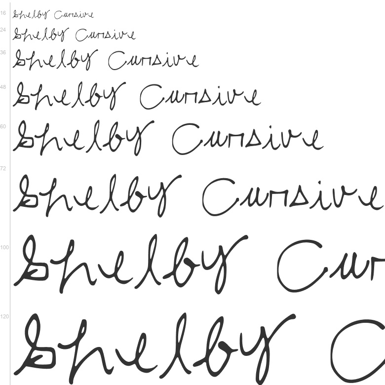 Free Fonts Shelby Cursive