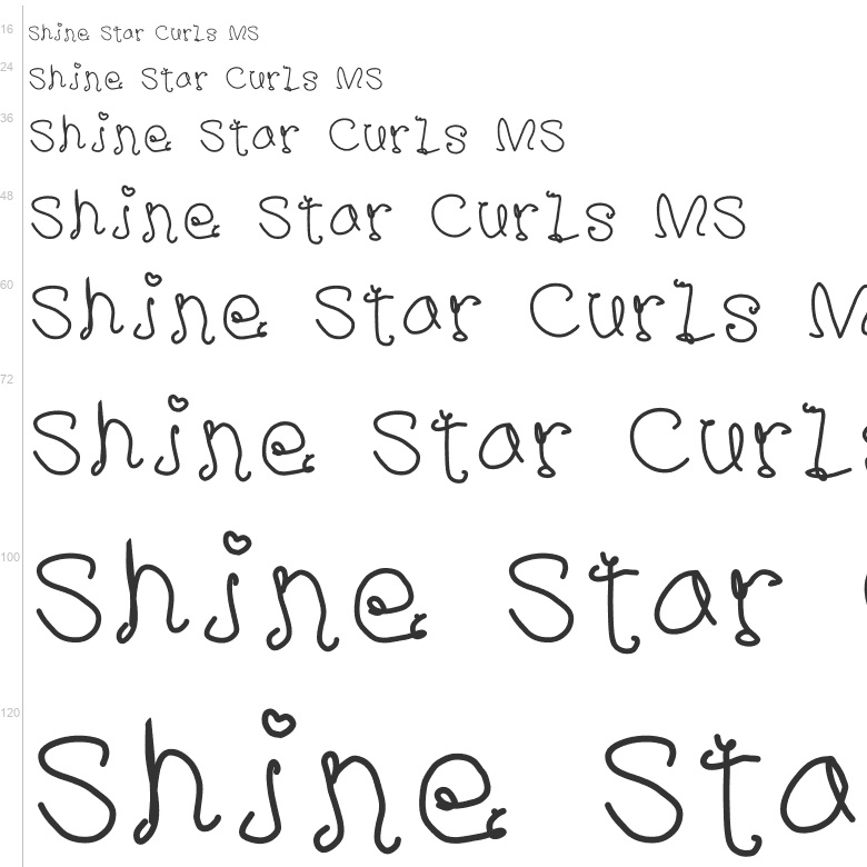 Free Fonts: Shine Star Curls MS | Curly | kizzles the cat